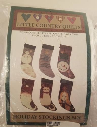 Pattern Holiday Stockings  by Little Quilt Company