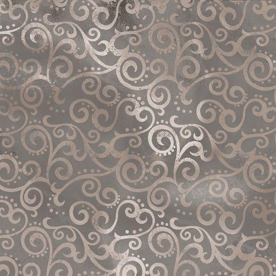 Ombre Scroll in Stone by Quilting Treasures