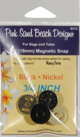 1/2 Magnetic Bag Snap, Black Nickel