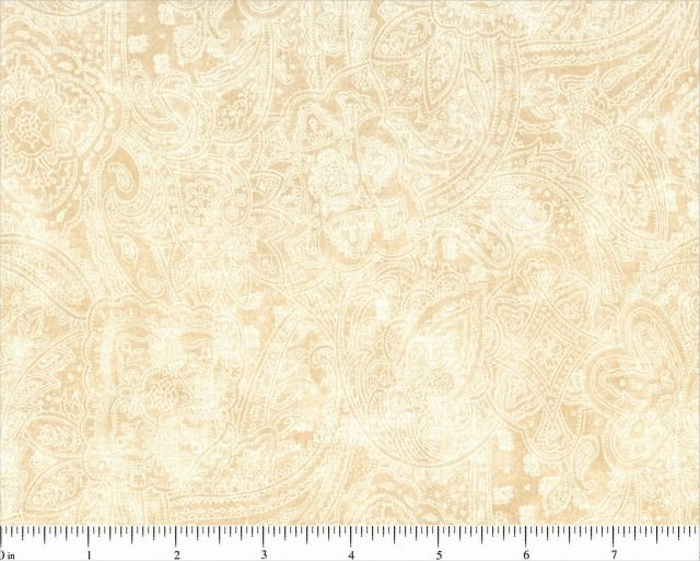 Subtle Paisley in Tan by Choice Fabrics, 108 Wide