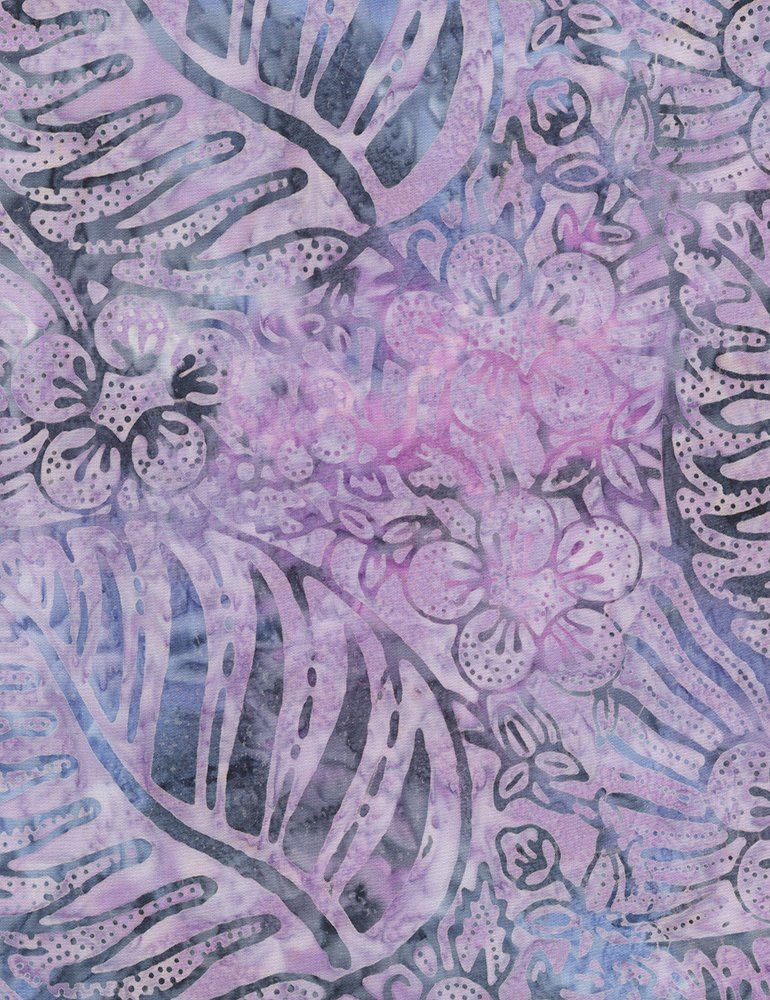 Mystical Prism Tropical Leaf in Mauve by Timeless Treasures