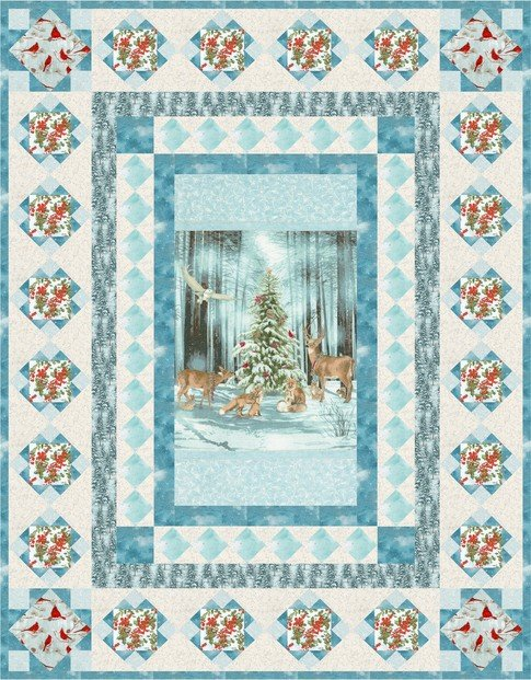 Snowfall Quilt Kit by Robert Kaufman Fabrics