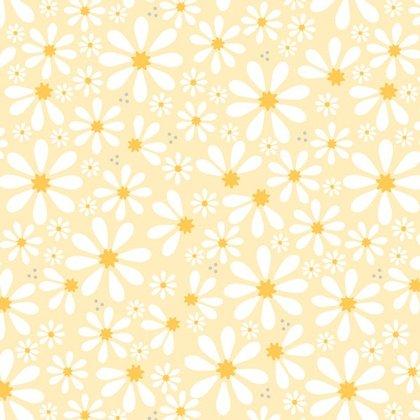 Yellow Sunshine Daisies Yardage
