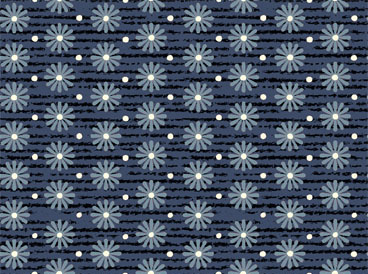 Nantucket Floral Navy Yardage