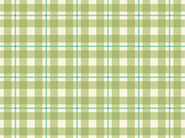 Daisy Garden Plaid Avocado Yardage