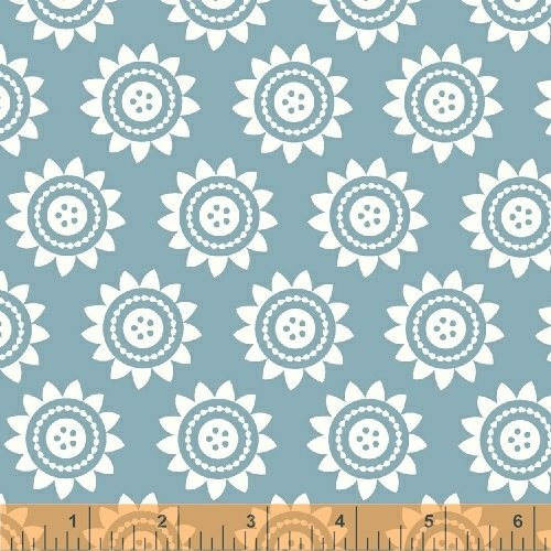 Oh Clementine Sun Medallions Teal Yardage