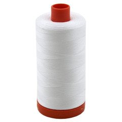 Aurifil White Cotton Mako 50wt Thread