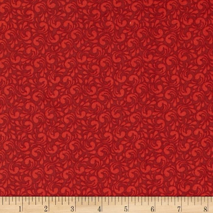 Adornit Nested Owl Twirl Red, fat quarter