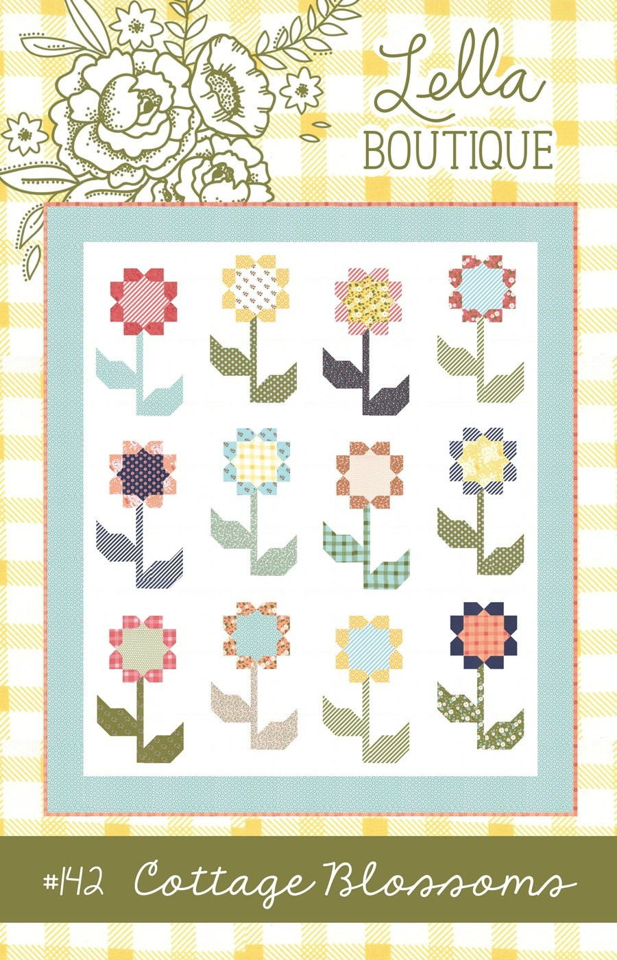Cottage Blossoms Side Quilt Pattern