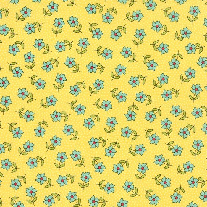 The Sweet Life Sunshine Floral Dainty Daisy Yardage