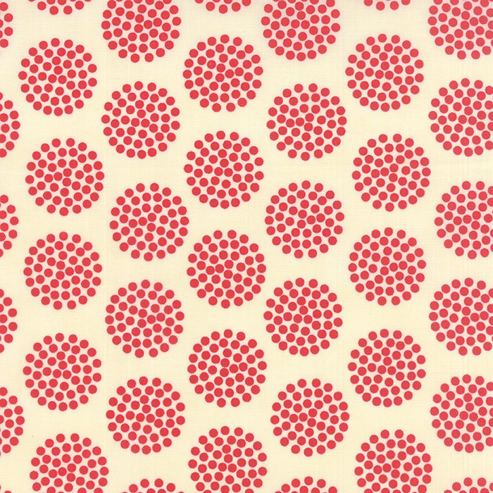 The Sweet Life Cheery Red Floral Dots Yardage