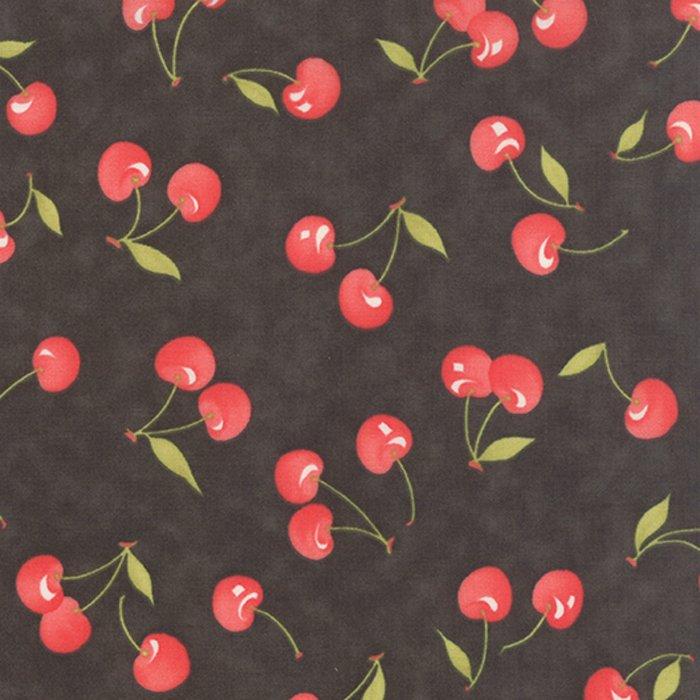 Farmhouse Vintage Cherries Midnight Yardage