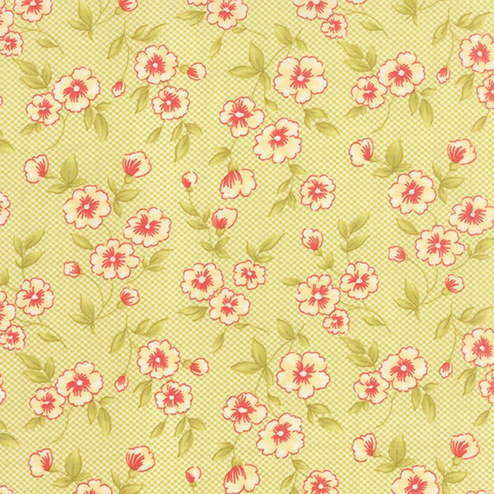 Farmhouse Gingham Blooms Meadow Yardage
