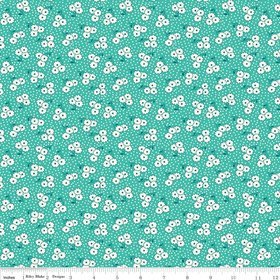 Hope Chest Blossom Teal Yardage