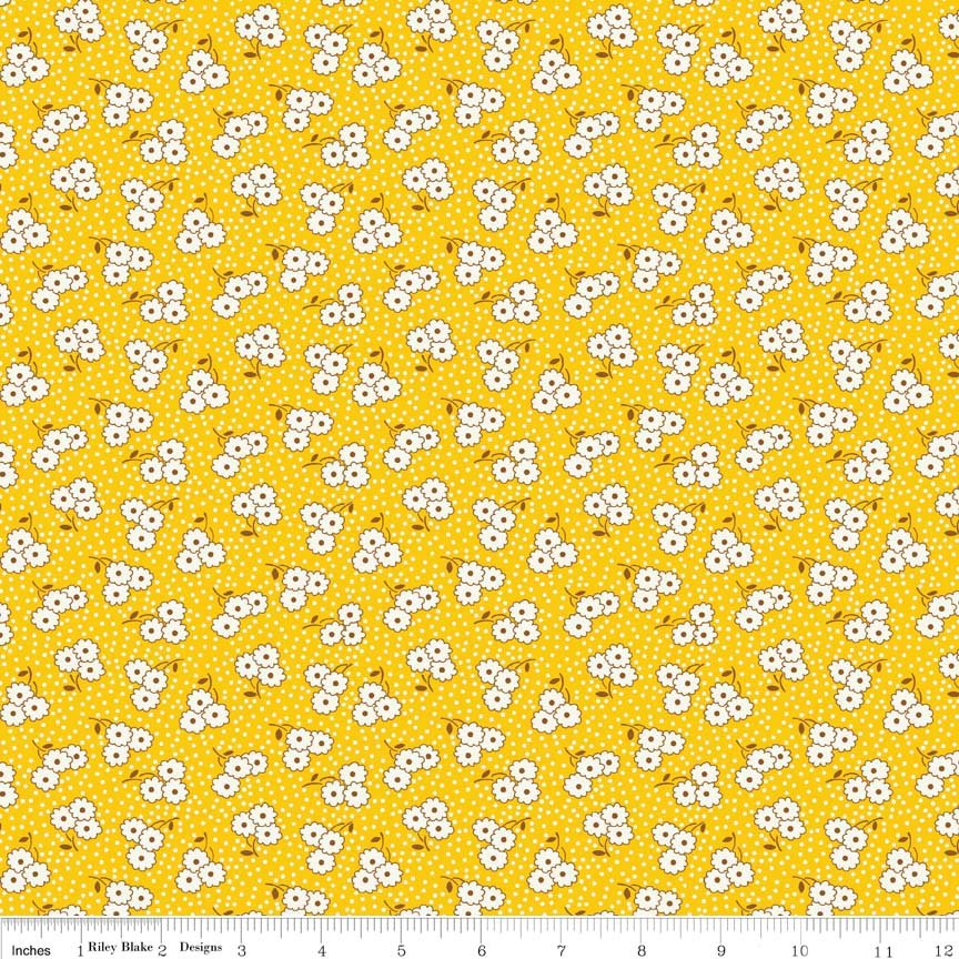 Hope Chest Blossom Yellow Yardage