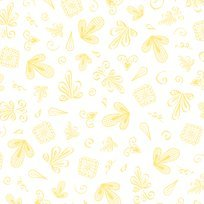 Afternoon Delight Yellow Ditsy Toile Yardage
