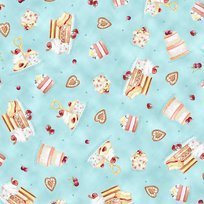 Afternoon Delight Dusty Teal Dessert Toss Yardage