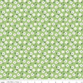 Vintage Happy Petals Green Yardage