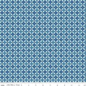 Modern Minis Blue Circles Yardage