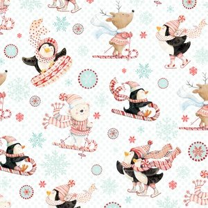 Peppermint Penguin White Skiing & Sledding Yardage