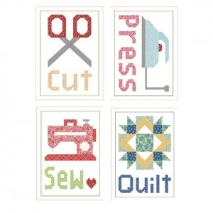Cut, Press, Sew, Quilt Magnets by Lori Holt
