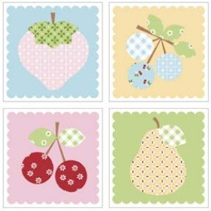Sew Cherry Magnets by Lori Holt