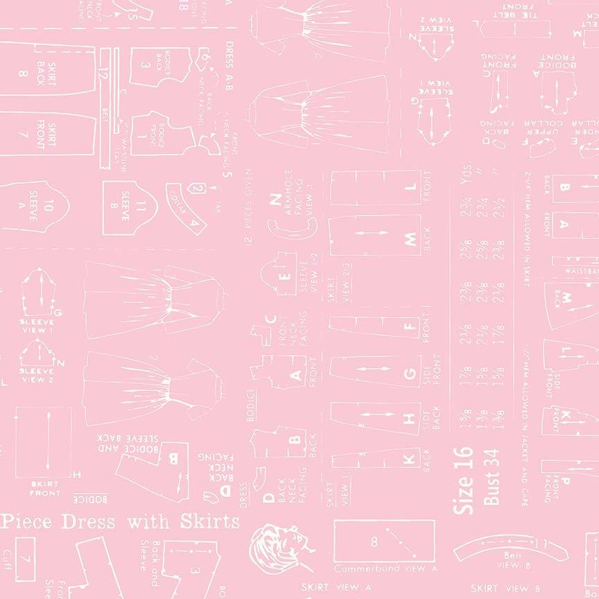Bee Backings Pattern Pink Yardage