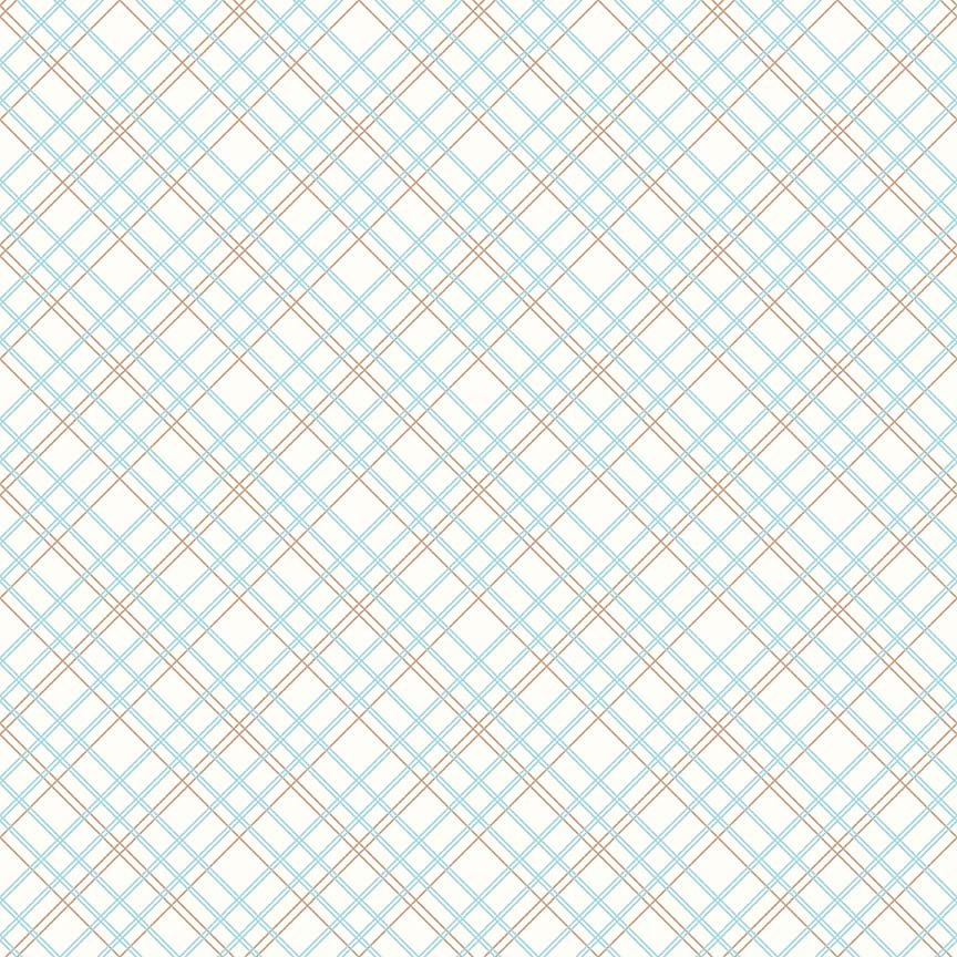 Bee Backings Plaid Aqua Yardage