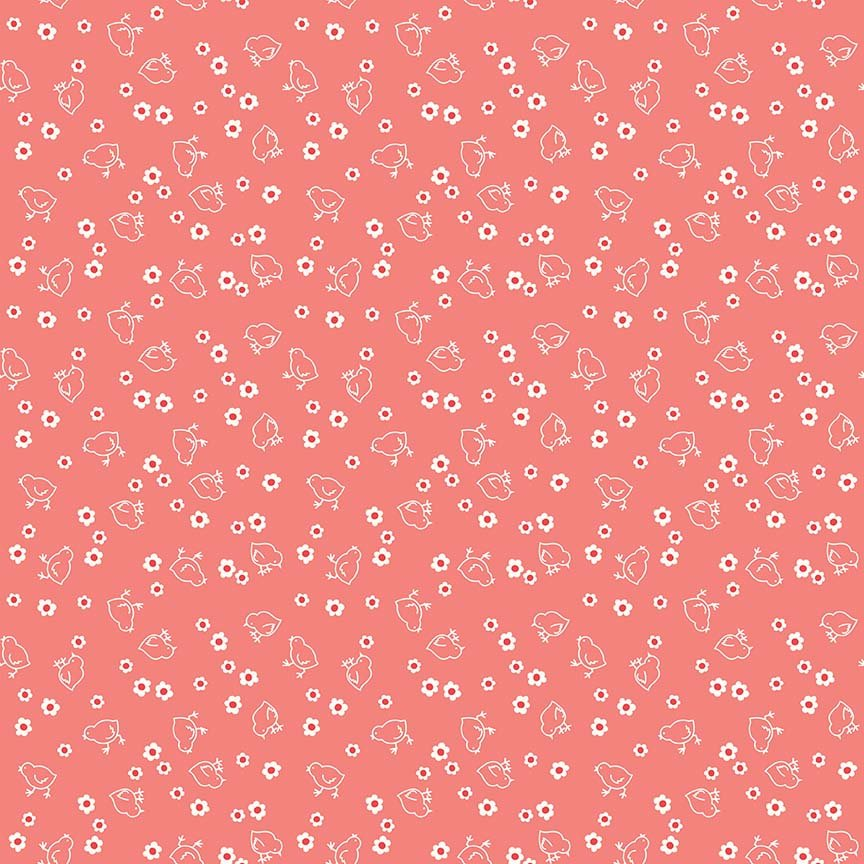 Bee Backings Chick Coral Yardage