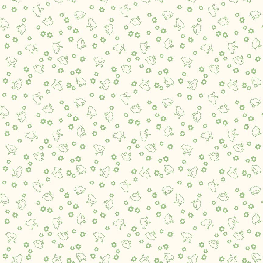 Bee Backings Chick Green Yardage