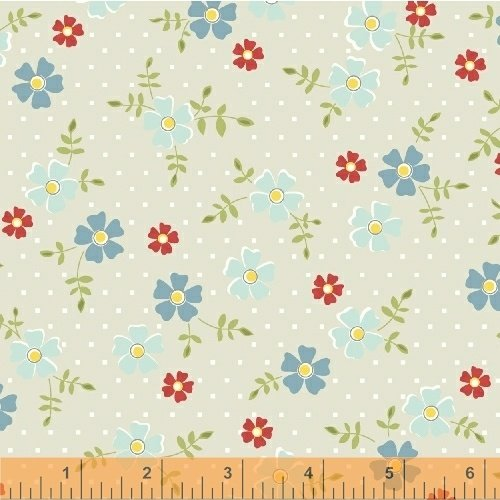 Oh Clementine Tossed Flower Gray Yardage
