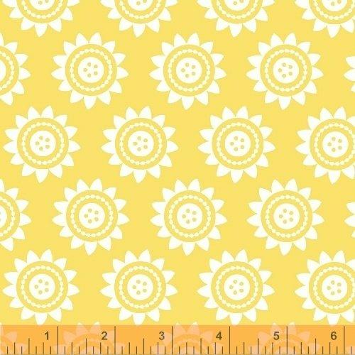 Oh Clementine Sun Medallions Yellow Yardage