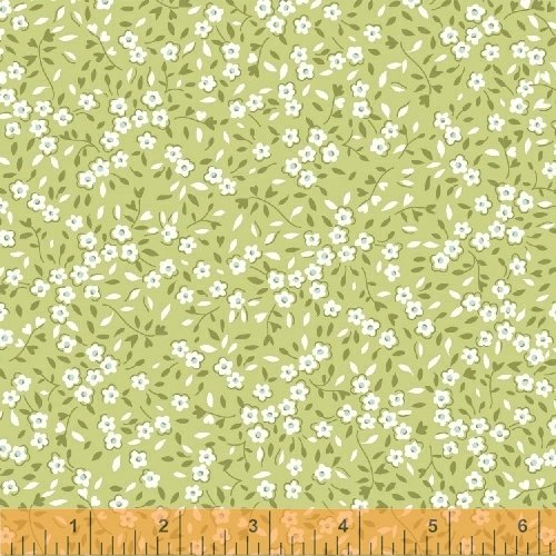 Oh Clementine Mini Floral Green Yardage
