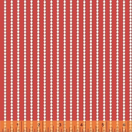 Oh Clementine Stripe Red Yardage