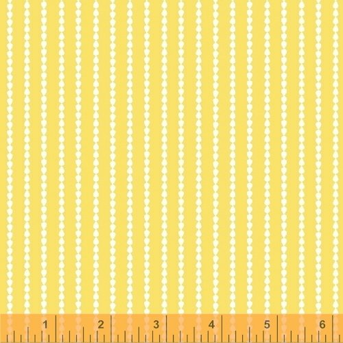Oh Clementine Stripe Yellow Yardage