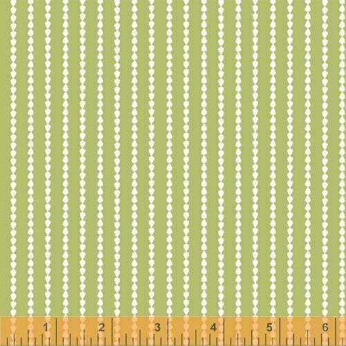 Oh Clementine Stripe Green Yardage