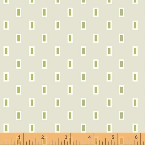 Oh Clementine Boxes Grey Yardage