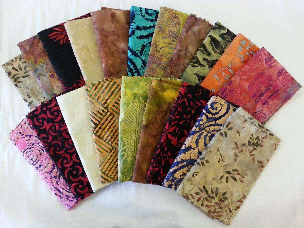Batik Fat Quarter Mystery Bundle of 10