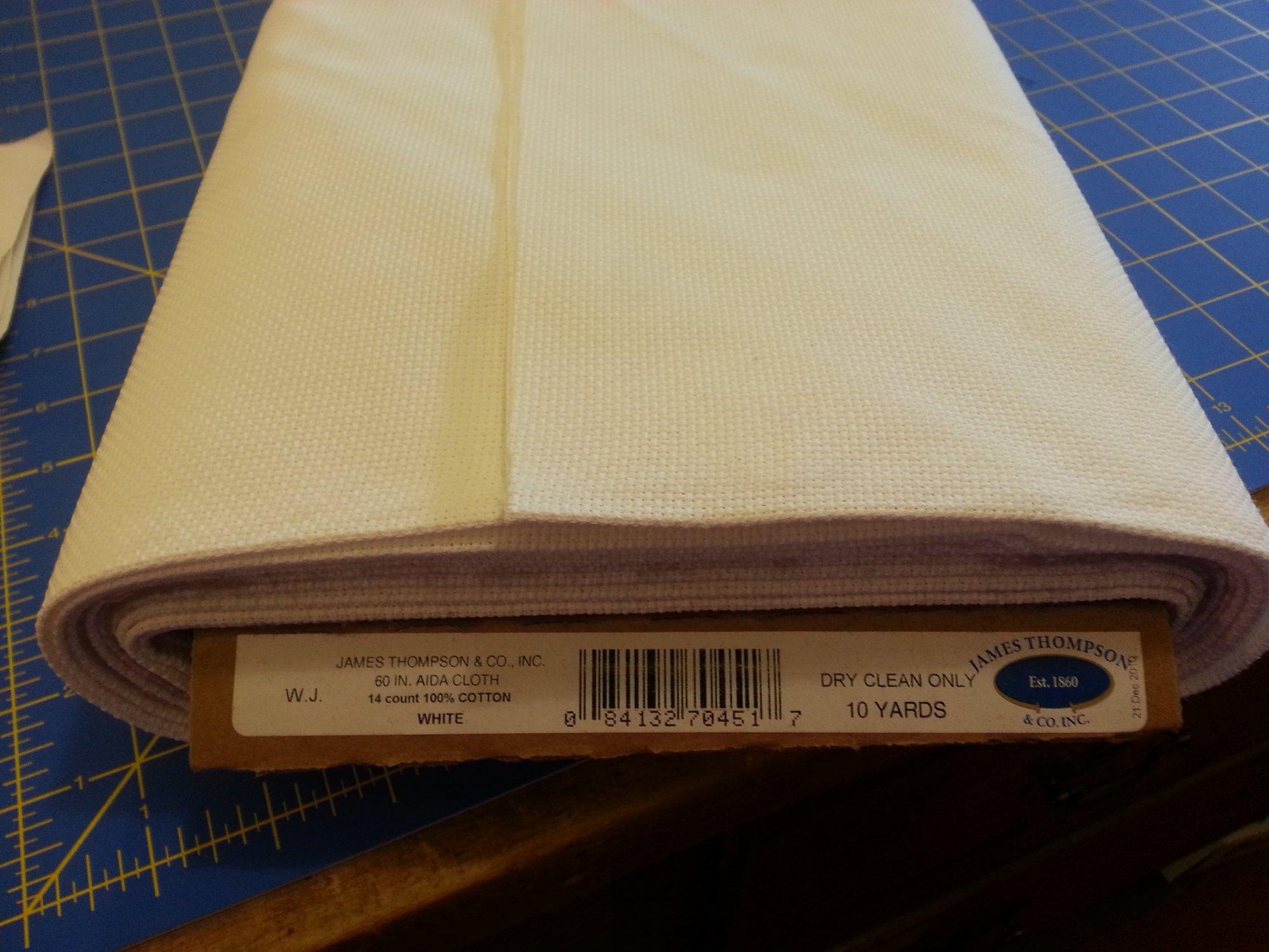 Aida Cloth 60 inch wide X 14 Count White