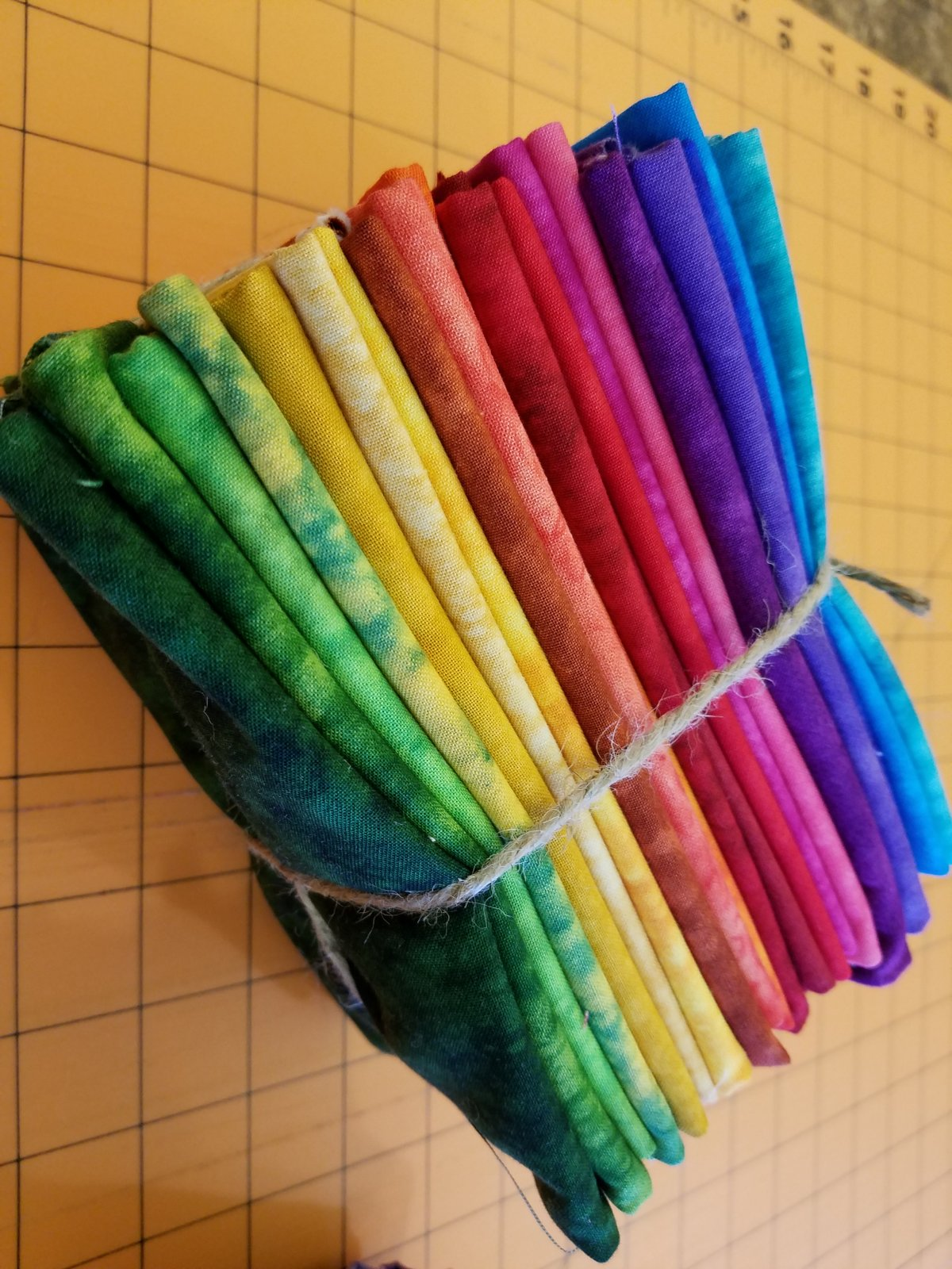 Rainbow Marbles and Splash Fat Quarter Bundle of 20