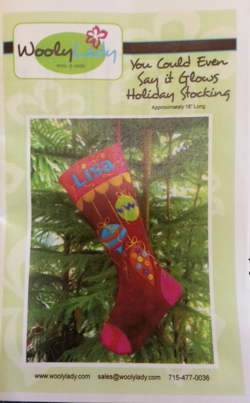 Wooly Lady You Could Even Say It Glows Holiday Stocking Kit 18 long