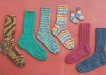 Ann Norling Adult Socks II:  Play on Ribs #12A