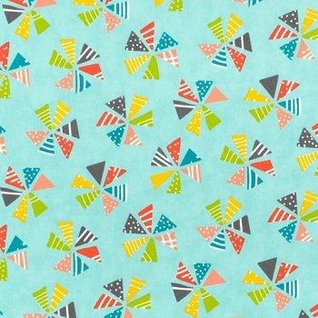 Moda Mixed Bag Pinwheels Sky 33200 15