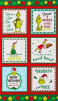 How the Grinch Stole Christmas  Panel ADE-17490-223- Holiday