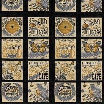 Moda Bee Inspired by Deb Strain 11.5 Panel Ebony 19790 13