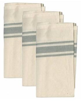 Gray Bold Twill Stripe towels