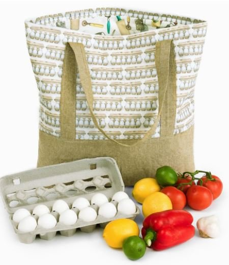 Grocery Bag Kit Cotton Flax Blue
