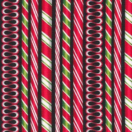 Holly Jolly Christmas 6 Robert Kaufman  AMK-16652-2 Black