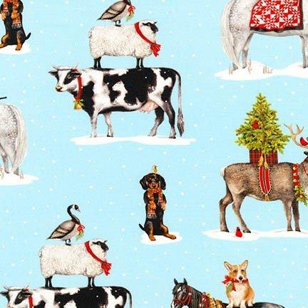 Holly Jolly Christmas 6  Digital Robert Kaufman AMK-16653-87--Snow