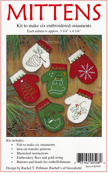 Mittens Christmas Tree Ornament Kit